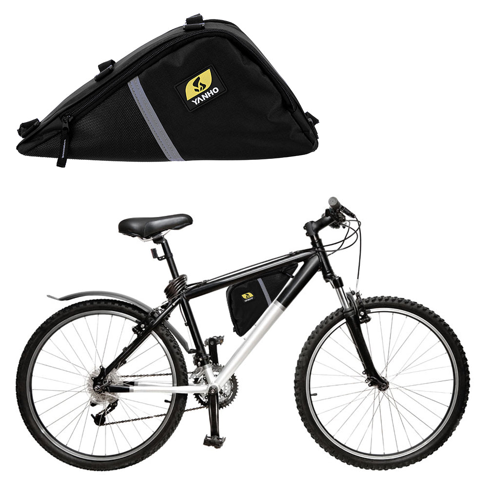 2.48L Waterproof Bike Front Top Tube Triangle Frame Bag Bicycle Saddle Pouch Storage Case Oxford Fabric