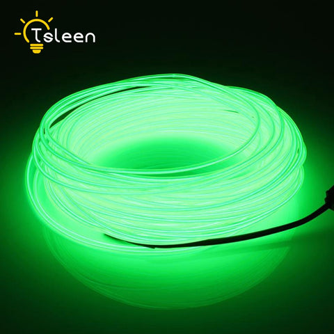 AA Battery Power LED Strip 2 3 5M LED Light EL Wire Tube Rope Flexible Neon Light With Controller
