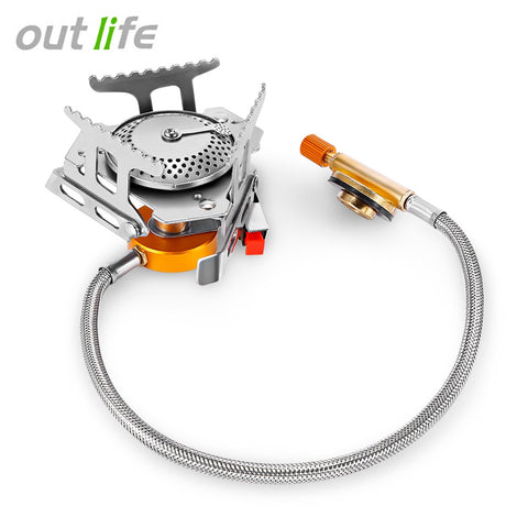 Portable Outdoor Folding Gas Stove Camping Gas Burners Stainless Steel