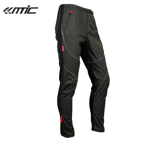 Men's Winter Cycling Bicycle Bike Pants Windproof Fleece Thermal Tights M-3XL