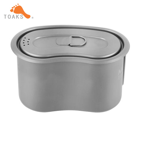 950ml Camping Titanium Cup Pot Lunch Box Canteen with Lid