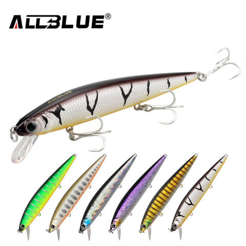 Fishing Wobbler 14.2g 110mm Suspend Minnow Bass Fishing Lures With 6# Hooks