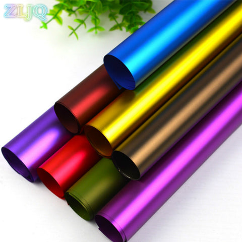 20 Pcs 59cmx60cm Colorful Platinum Paper Gifts Flowers Party Wrapping Paper Wrinkled Paper Roll Decoration Paper