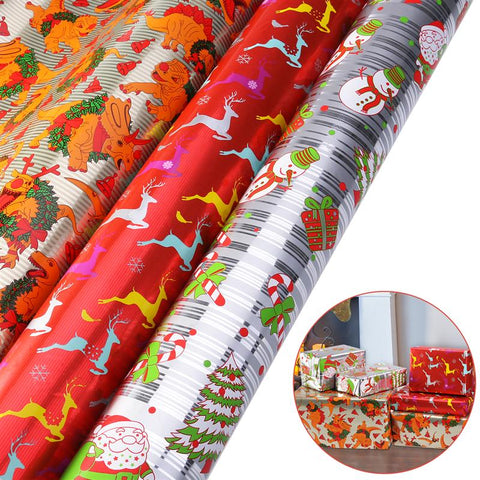 3 Rolls Christmas Gift Flower Wrapping Paper 70x400CM