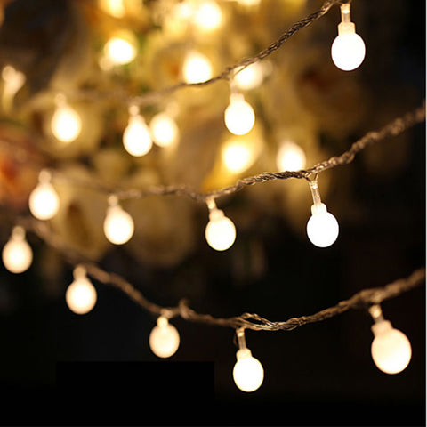 AA Battery 2M 20 LED Cherry Ball Bulb String Lights Xmas Garland LED Decorations Holiday Outdoor Lights