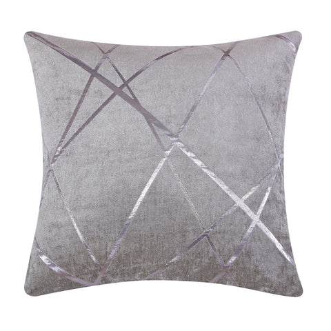 Silver Jacquard Fabric Sofa Pillow Cushion 3 Colors 2 Sizes 45x45cm 50x50cm