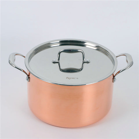 26cm Copper Clad Steel Stainless Steel Soup Pot With Steel Lid Five-Ply