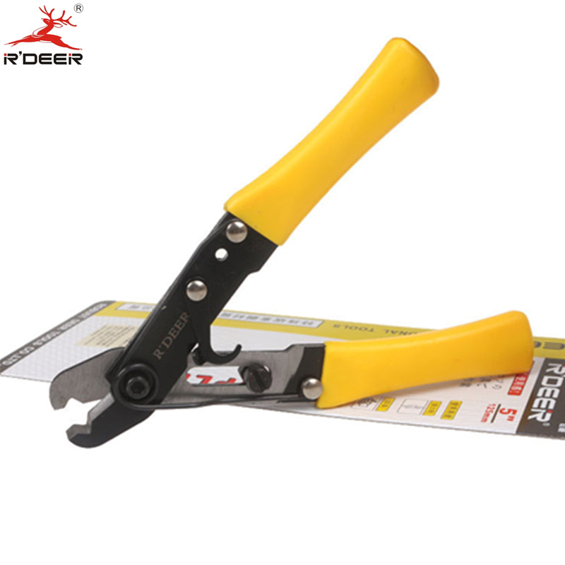 5'' 125mm Single Hole Wire Stripper Adjustable Thicken Cutting Pliers Crimping Tool