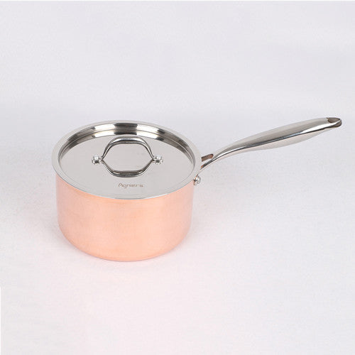 20cm Copper Clad Stainless Steel Saucepan With Steel Lid Five-Ply