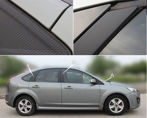 Auto Window Frame ABC Pillar Carbon Fiber Protection Film Sticker Decal