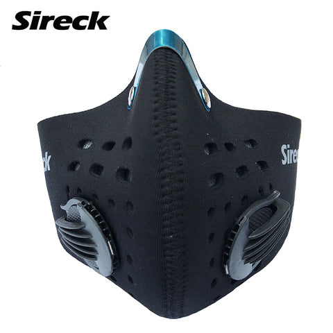 Motorcycle Biker Cycling Face Mask Training Mask Activated Carbon Filter Smog PM 2.5 Dustproof