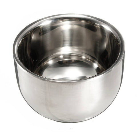 Stainless Steel Brush Shave Bowl