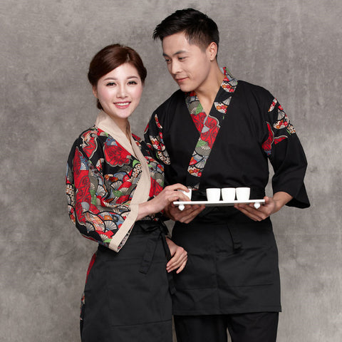 Japanese Restaurant Kimono Chef Waiter Waitress Uniform