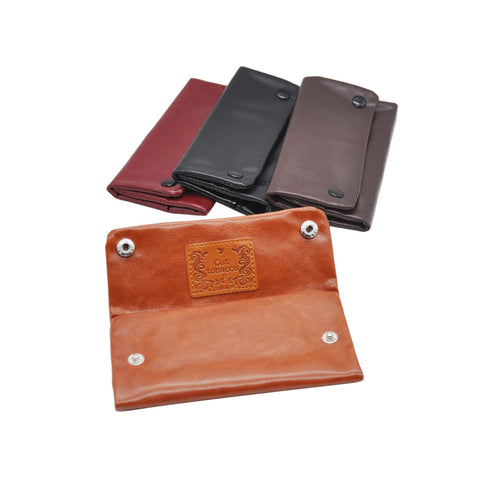 PU Tobacco Pouch With 78 MM Paper Holder Bag Tobacco Wallet Purse