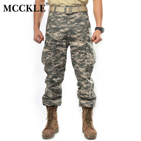 Mens Camouflage Tactical Pants Multi-Pockets Military Digital Camo 7 Colors