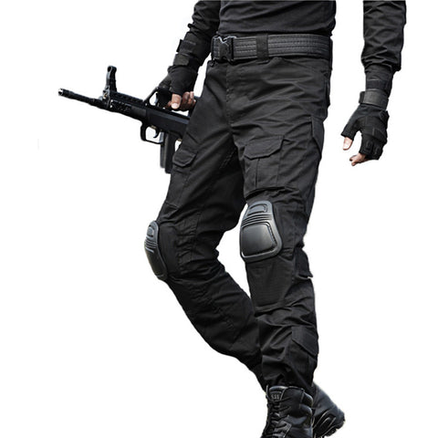 Men's Military Tactical Pants Knee Pads Cargo Trousers