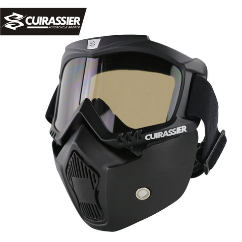 ATV Motorcycle Off-Road Dirt Bike Racing Full Face Protection Goggles Mask