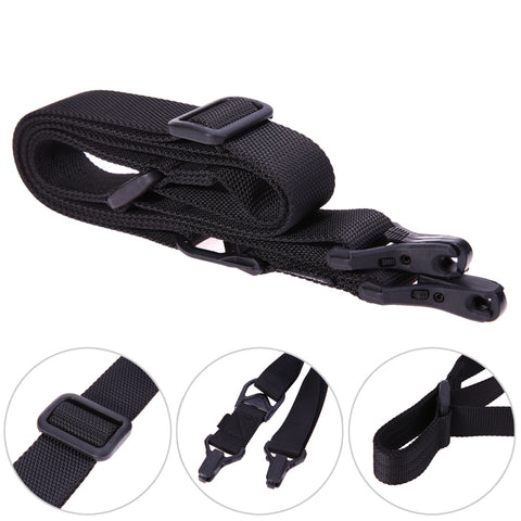 Black Adjustable Rifle Sling Strap 2 Point Tactical Rifle Sling