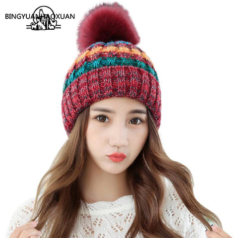 Women Beanie Hat Knitted Skullies