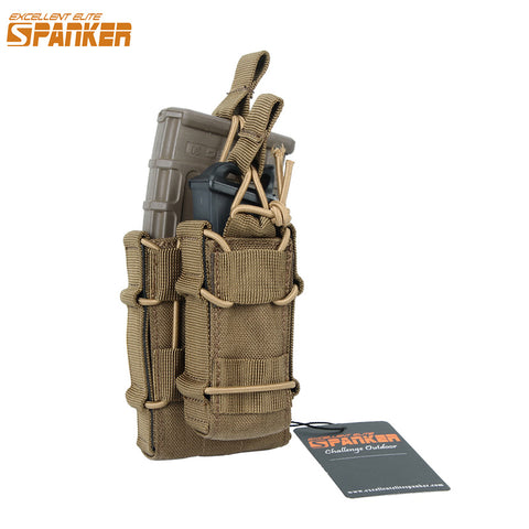 Tactical Double Decker M4 Magazine Pouch with Molle Buckl