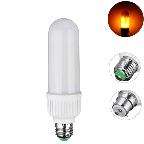 5W 2835 SMD 99 LEDs Lamp Bulb E27 B22 1800K Yellow Flickering Flame Fire AC 85-265v