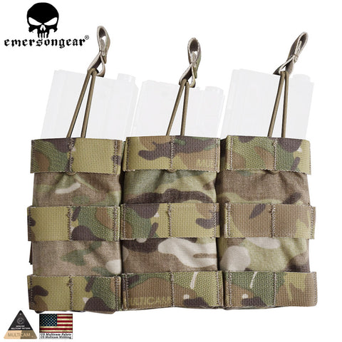 Tactical Triple Open Top Mag Pouch Modular Magazine Molle Pouch