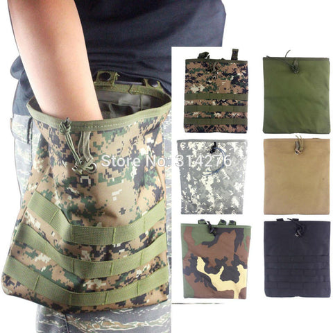 Tactical Adjustable Foldable Molle Magazine Mag Dump Pouch