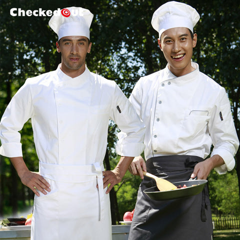 Restaurant Chef White Long-sleeve Uniform