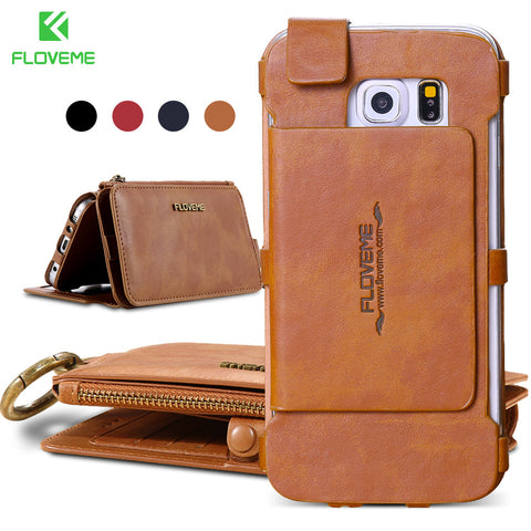 Cellphone Wallet Case For iPhone Samsung Galaxy Edge Note Leather Cover