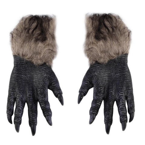 One Pair Halloween Werewolf Wolf Paws Claws Cosplay Gloves Creepy Costume