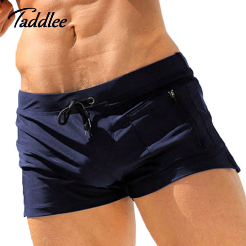 Men Swimming Trunks Boxer Shorts Swim Suits Pouch