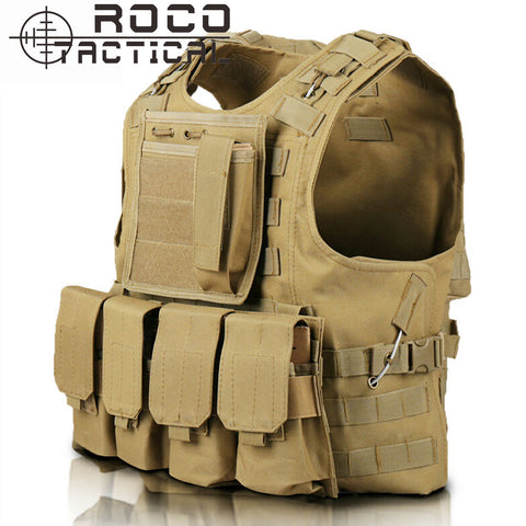 Quick Release Military Modular Molle CIRAS Tactical Vest With Mag Pouch And Accessory Bag