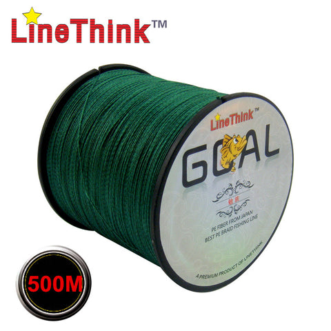 500M Multifilament 100% PE Braided Fishing Line 6LB to 120LB