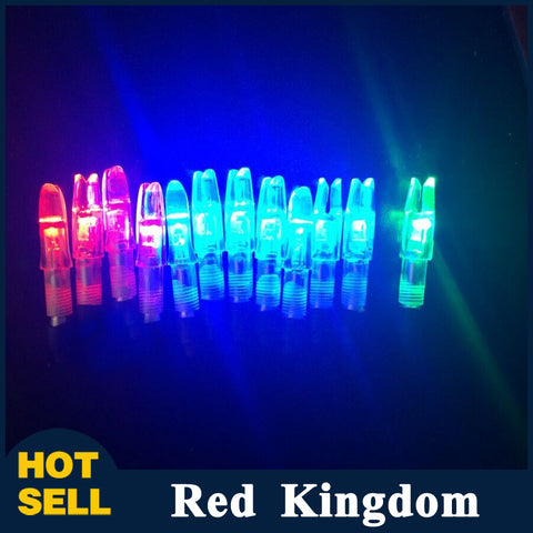 12 pcs LED Lighted Arrow Nock Green Blue Red
