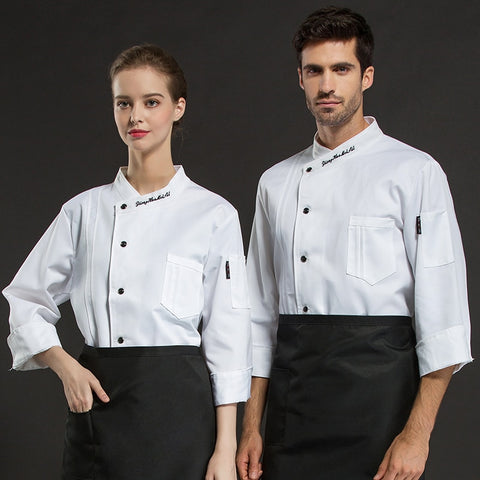 Hotel Restaurant Bakery Chef Uniform Long Sleeve Jacket