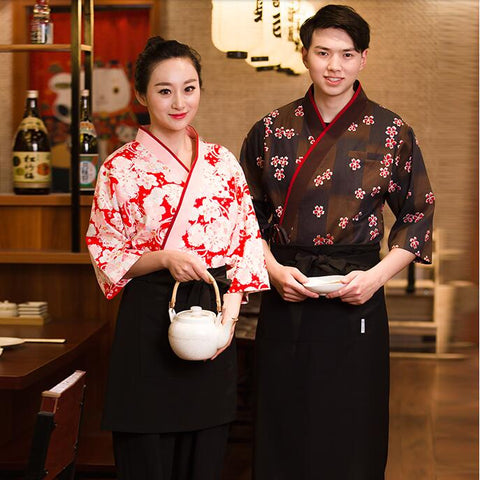 Japanese Restaurant Sushi Chef Apron Uniform