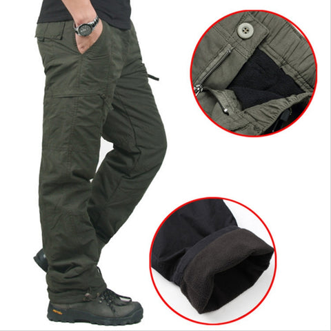 High Quality Winter Warm Men Thick Pants Double Layer Military Army Camouflage Tactical Cotton Trousers