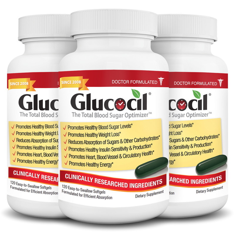 Glucocil 3 Pack (3-Month Supply)