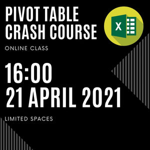 Excel Pivot Table 101 LIVE Class (6 May '21 - 18:00 SAST)