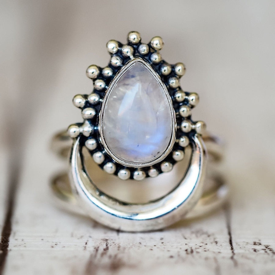 Natural Marquise Moonstone Ring