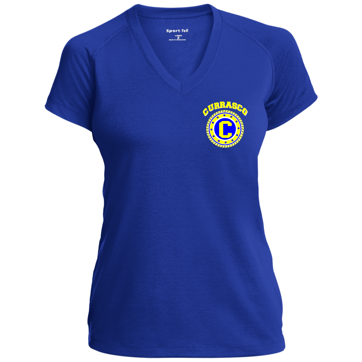 Royal Gold Womens V-neck Tee