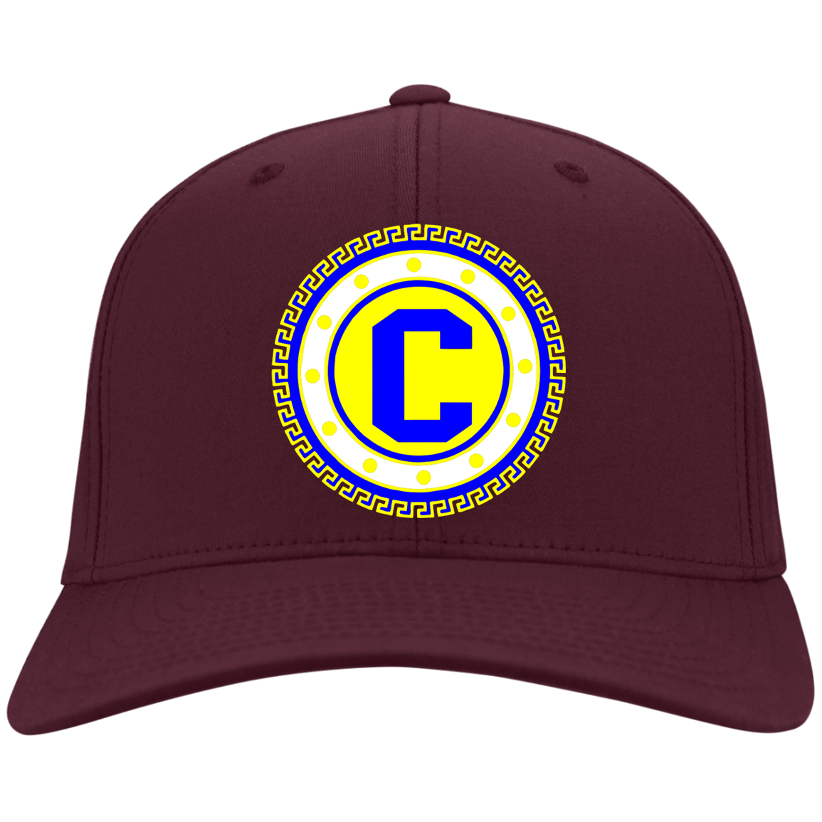 Blue Gold Twill Baseball Hat