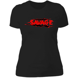 Savage Fire Red Womens Graphic Tee