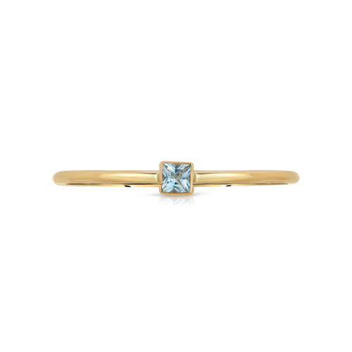 Aquamarine Square Ring