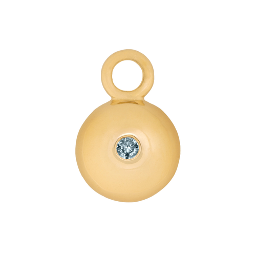 Aquamarine Dome Charm
