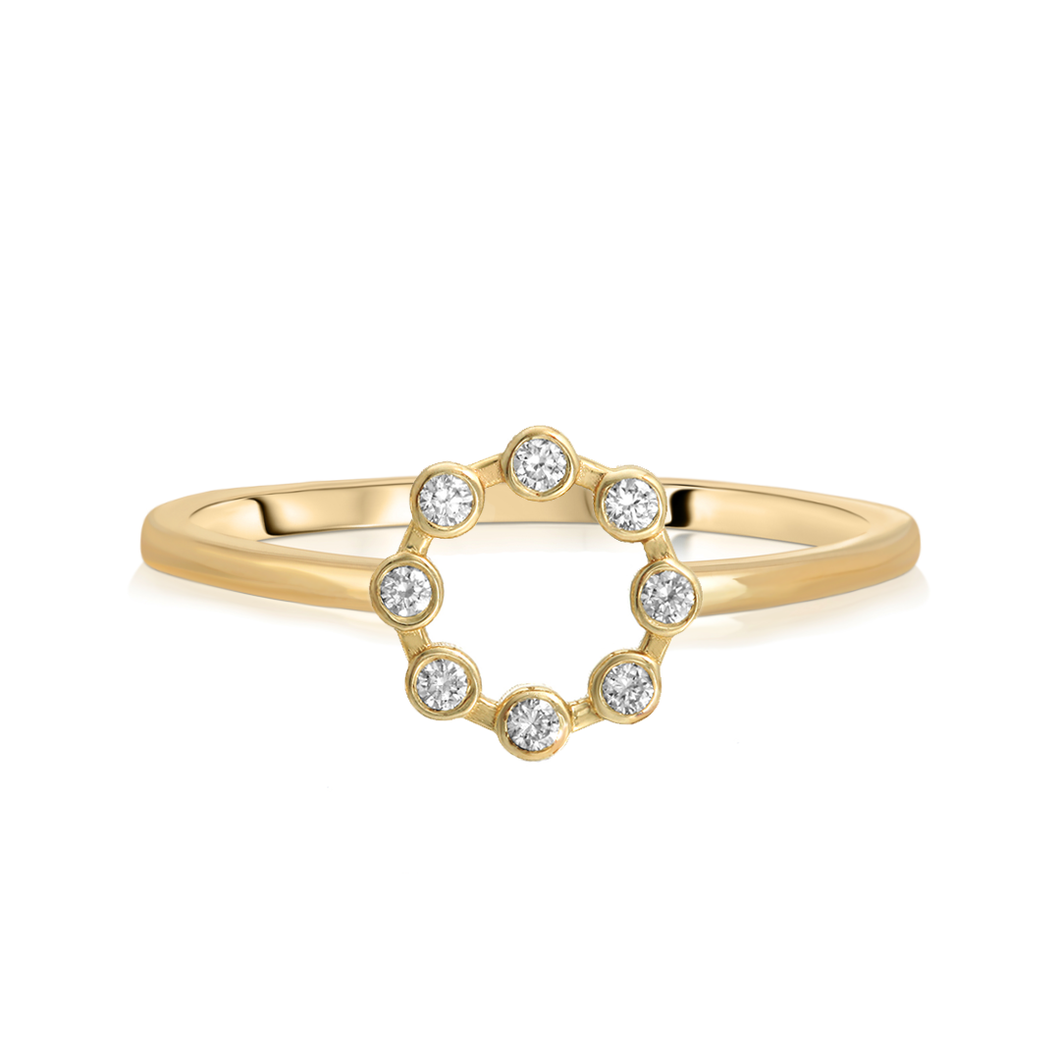 Small Diamond Circle Ring