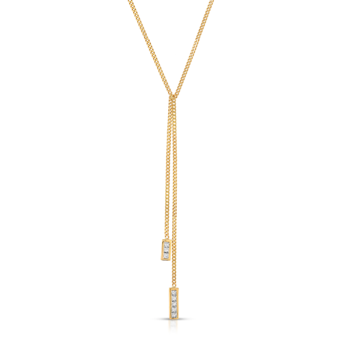 Princess Cut Curb Chain Lariat