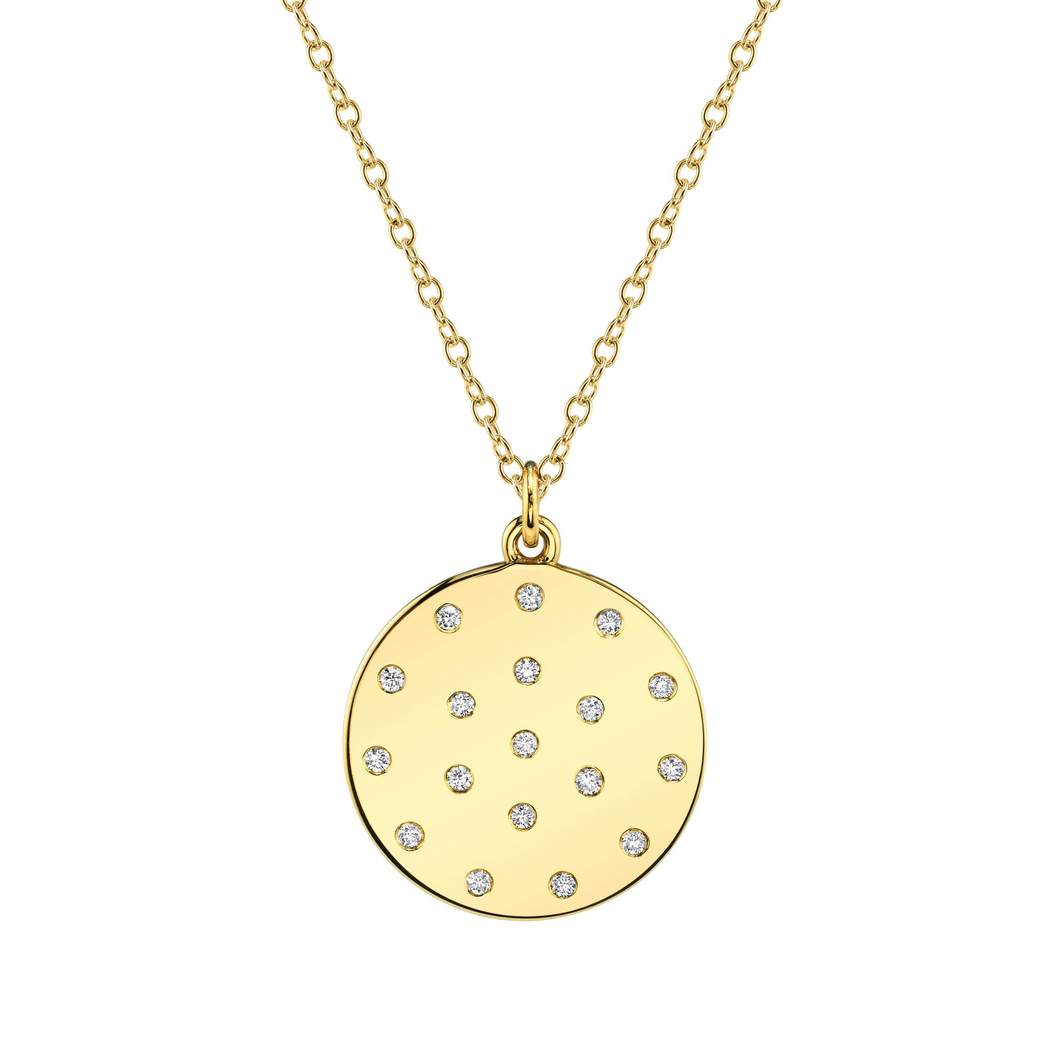 Diamond Dot Pendant Necklace