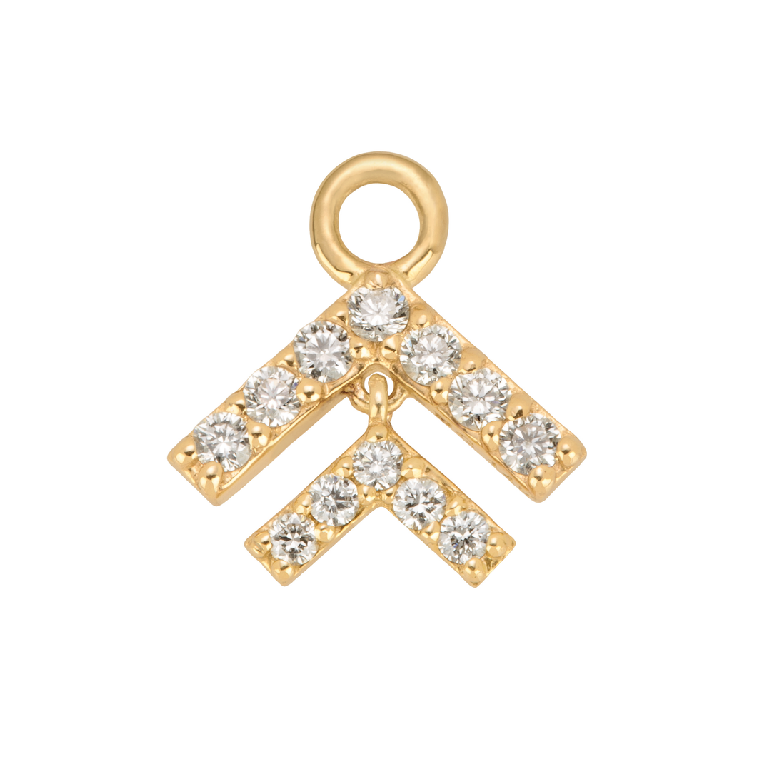 Diamond Arrow Charm