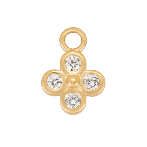 Diamond Clover Charm